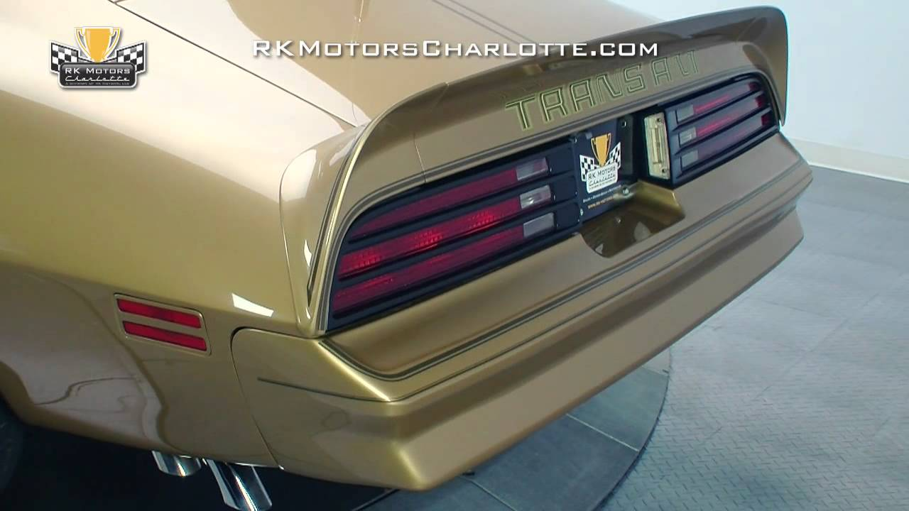 5b65387c 132707 / 1978 Pontiac Trans Am Gold Special Edition - YouTube