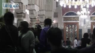 بالفيديو : قصة شعر غريبة لريم ماجد فى عزاء الراحل محمد خان