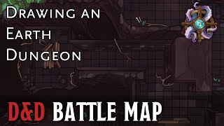 Drawing An Earth Dungeon D&D Battle Map YouTube