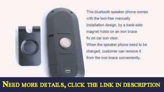 signstek portable multipoint wireless handsfree bluetooth sun visor incar speakerphone car kitblack