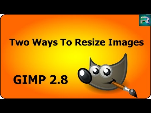 how to change the size of a picture in gimp