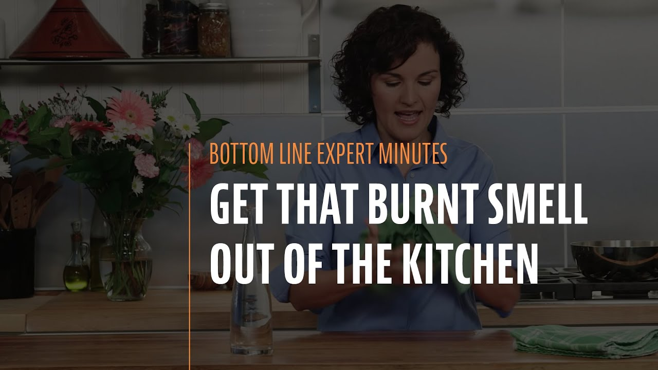 get that burnt smell out of the kitchen - youtube