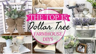 15 ULTIMATE BEST FARMHOUSE DOLLAR TREE DIY IDEAS