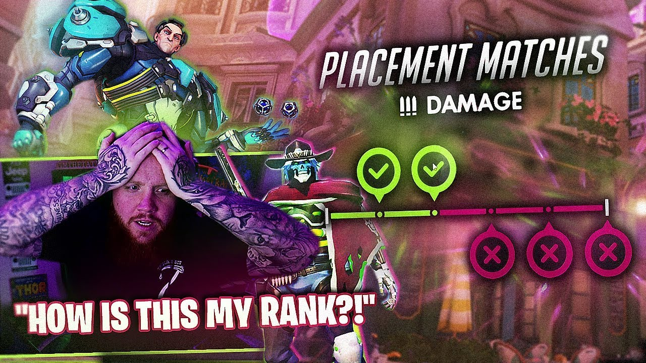 *NEW* ROLE LOCK OVERWATCH PTR PLACEMENTS!! This was my rank?! thumbnail