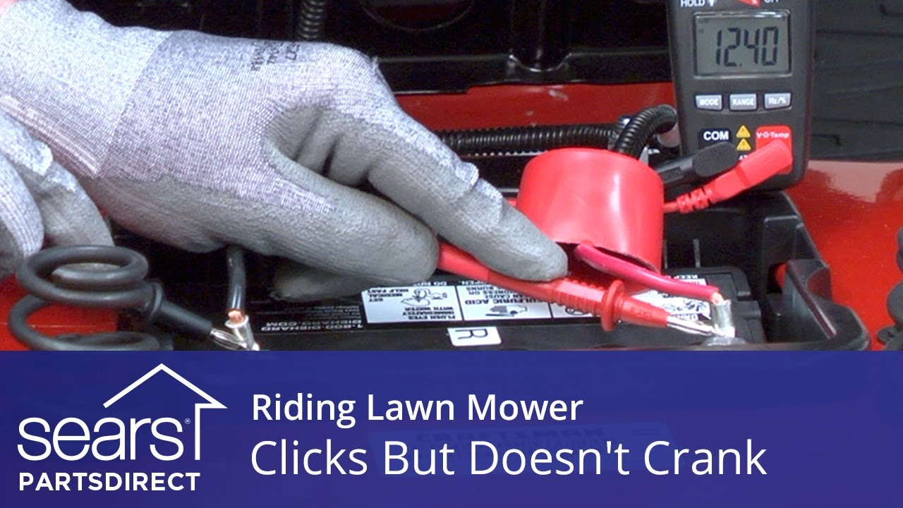 Riding lawn mower engine clicks but doesn't turn over video | Riding
