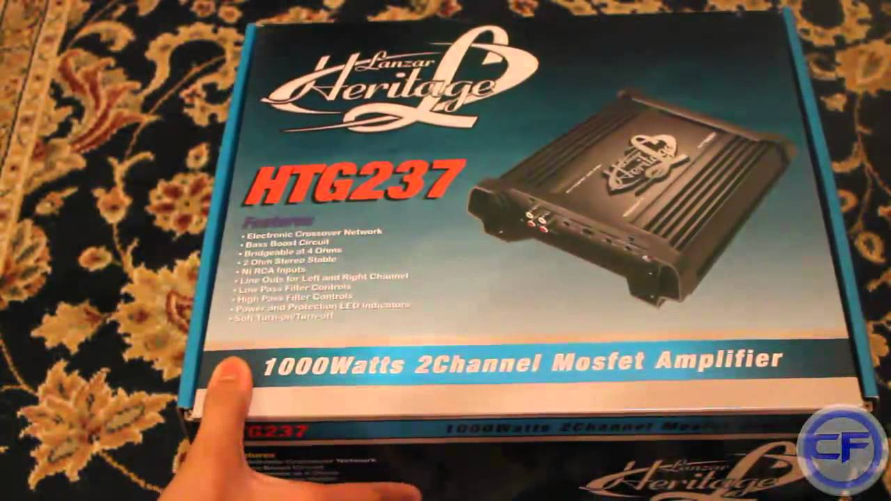 Car Amplifiers New Lanzar HTG237 1000 Watt 2 Channel Mosfet