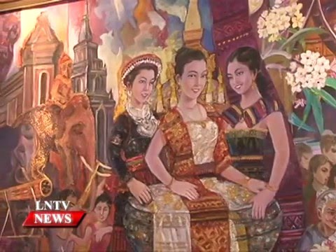 Lao NEWS on LNTV: National Artist promotes Lao art and culture through exhibition.5/2/2016