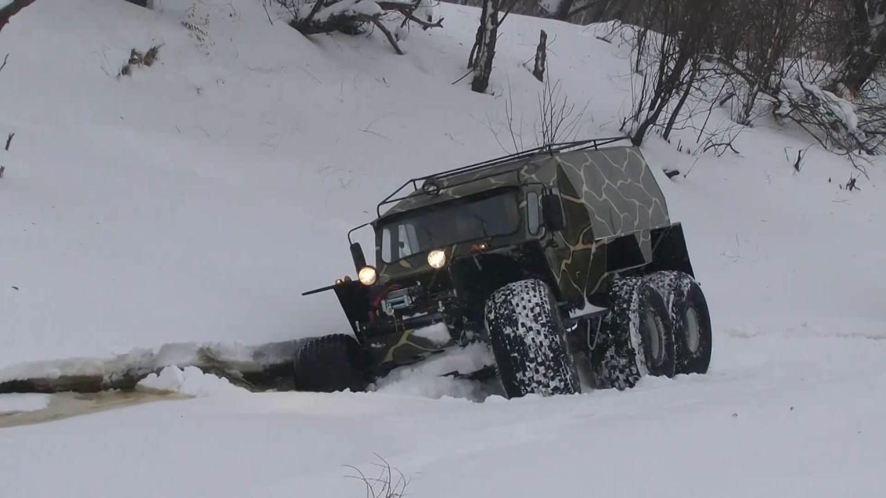 Коварство зимних проток (вездеходы ХИЩНИК)