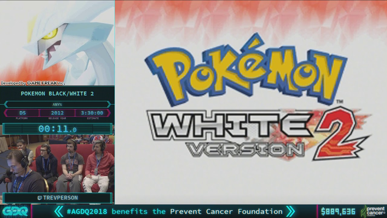 Pokemon White Version 2 by TrevPerson in 3:27:03 - AGDQ 2018 - Part 132