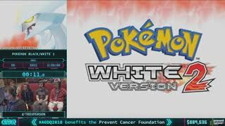 Pokemon Black/White Version 2 by TrevPerson in 3:27:03 - AGDQ 2018 - Part 132