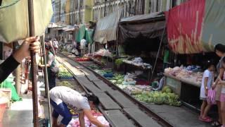 Railway Market in Meaeklong, Thailand