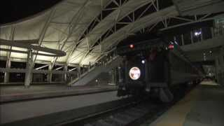 First Amtrak train arrives and departs Denver Union Station