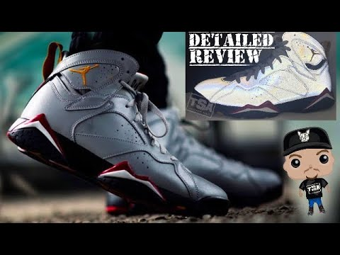 213820ceeb Air Jordan 7 Reflection of a Champion 3M Retro Sneaker HONEST Review With  Reflective Test