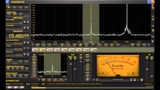 "15480 Khz ""Borderhunter Radio"" Shortwave Pirate Station Received in Michigan Perseus SDR"