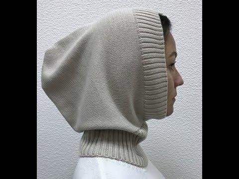 Капор - универсальный головной убор. Машинное вязание
