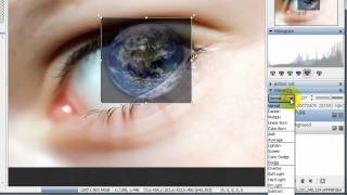 Earth in eye effect in StylePix