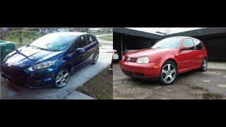 Ford Fiesta ST vs VW Golf GTI Mk4 1.8T