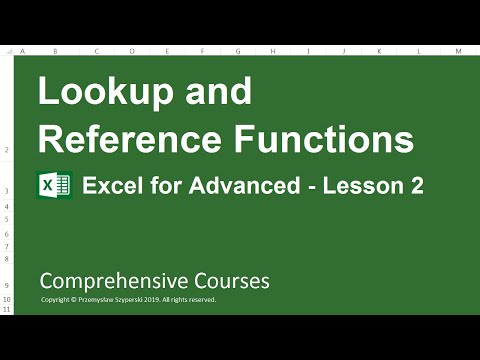 Lookup and Reference Functions - Excel for Advanced - Lesson 2