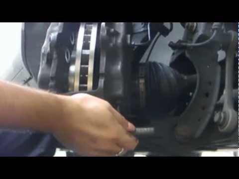 Front & Rear Disk Complete Brake Job Part 1 (2005 VW Touareg)