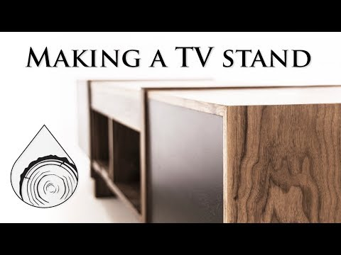 Making walnut TV stand with waterfall effect