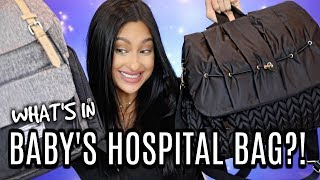 What's in Baby's Hospital Bag!? Chris's & Mine!