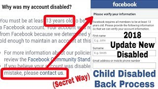 Mistakenly Facebook Child Disabled Accounts Enabled Process | Update Facebook New Disabled 2018