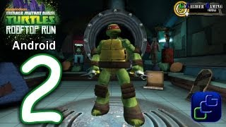 TMNT ROOFTOP RUN Walkthrough   Part 2 Raphael gameplay and KRAANG Boss Battle