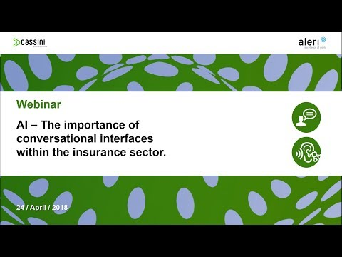 Webinar AI – The importance of conversational interfaces within the insurance sector