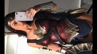 WONDER WOMAN HALLOWEEN TRANSFORMATION | Carli Bybel