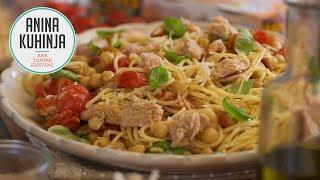 Youtube video Špageti s češnjevim paradižnikom, čičeriko in tunino