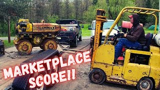 FREE Diesel Trench Compactor gets a Military Surplus engine Transplant! (WILL IT RUN??) Pt.2