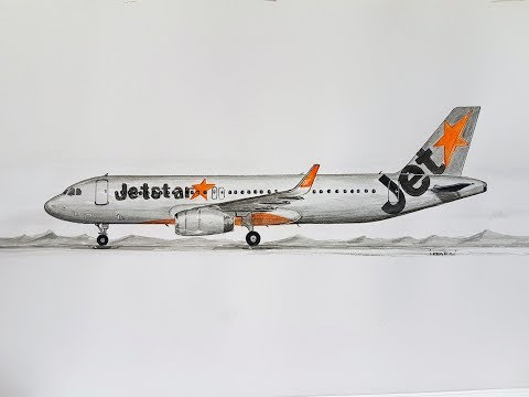 JETSTAR AIRWAYS,A-320, speed drawing