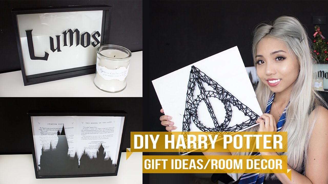 geeky diy 3 harry potter gift ideas room decor youtube