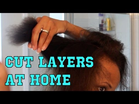 how to cut hair layered style how not to trim amp layer your hair at home 7620