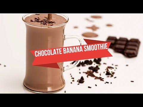 Healthy Chocolate Peanut Butter Banana Protein Smoothie   Chocolate Banana Shake