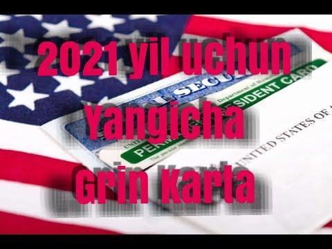 GRIN KARTA TO`LDIRISH 2021 YIL UCHUN YANGI VARIANTI....