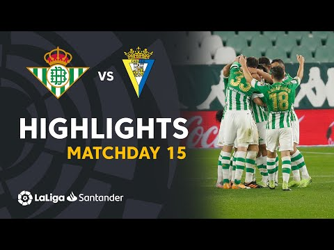 Betis Cadiz Goals And Highlights