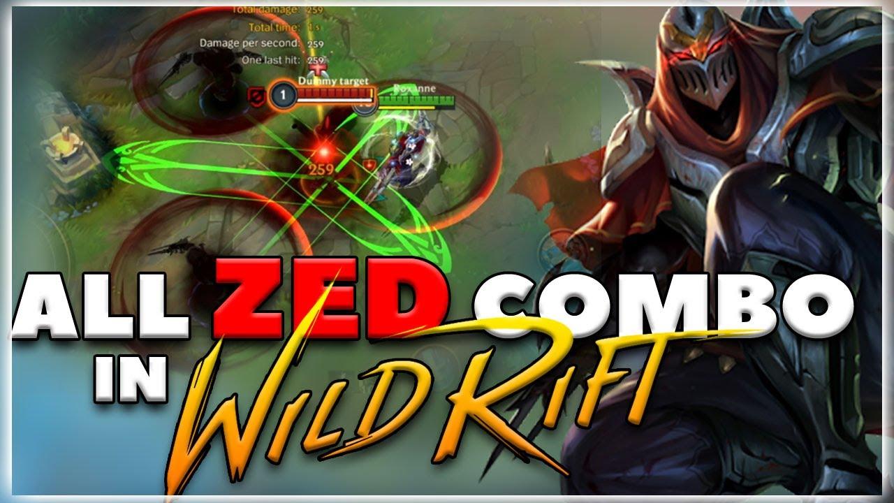 All Zed Combo Demo in Wild Rift | League of Legends Wild Rift