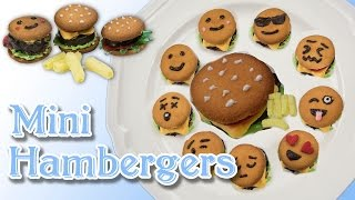 How To Make Mini Hamburger Cookies/emoji Bite Sized/food Arts - 【simply Yummy】