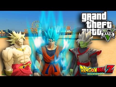GTA 5 Mod | Zamasu & Broly w/ Superman Script Mod | GTA 5 PC MOD Gameplay