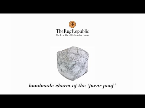 Handmade charm of the Jucar pouf