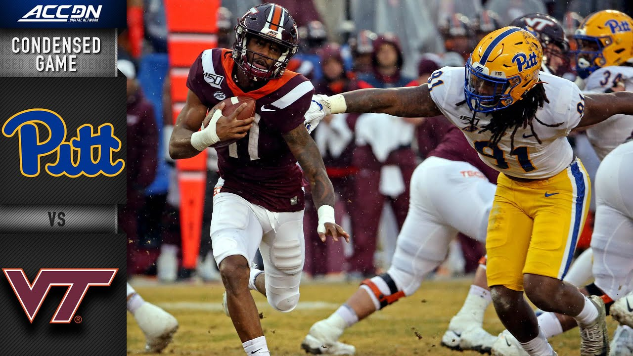 Pittsburgh Vs Virginia Tech Condensed Game Acc Football 2019 20 Youtube