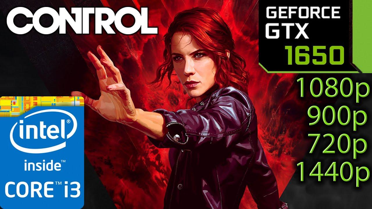 GTX 1650 4GB   Control   1080p 1440p 900p 720p   i3 10100f   PC Performance