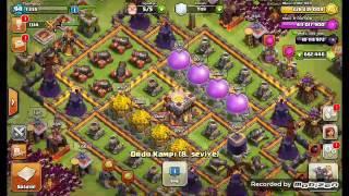 Clash of clans fhx server x499 büyücü ile köye daldık
