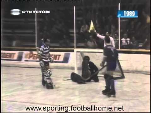 Hoquei Patins :: Sporting - 5 x O.Barcelos - 9 de 1988/1989