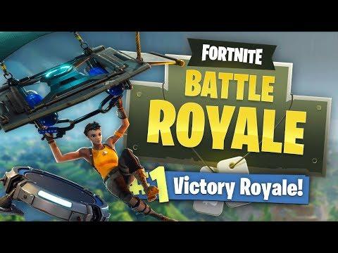 INSANE PARACHUTE JUMP PAD PLAY! (Fortnite Battle Royale)