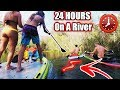 ⏰24 HOUR⏰ OVERNIGHT CHALLENGE ALMOST TURNS 💀DEADLY 💀 !!! (Floating Down A River) | JOOGSQUAD PPJT