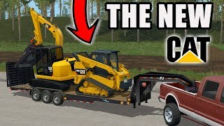 WE TRADED IN FOR A NEW CAT 289D SKID LOADER | FARMING SIMULATOR 2017
