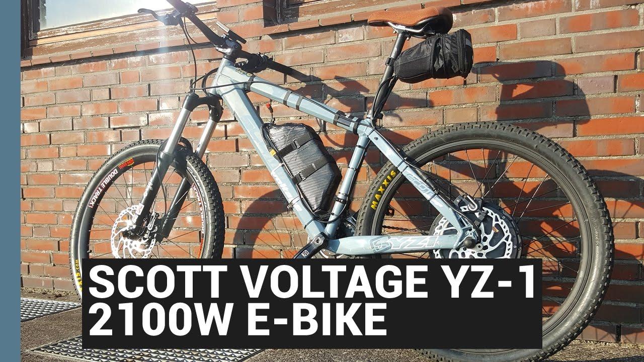 2kw ebike scott voltage yz 1 2100w diy e bike 20ah. Black Bedroom Furniture Sets. Home Design Ideas