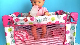 YOU & ME MOMMY CHANGE MY DIAPER DOLL AND HONESTLY CUTE FOLDING CRIB